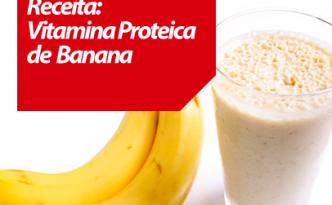 Imagem vitamina proteica de Banana